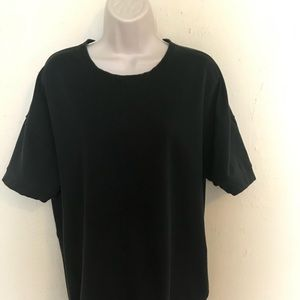 Lululemon Black Tunic Style Tee Shirt Sz 12